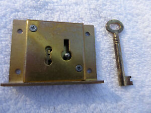Solid Brass Cabinet Drawer Door Lock With Key 2 5 Wide 2
