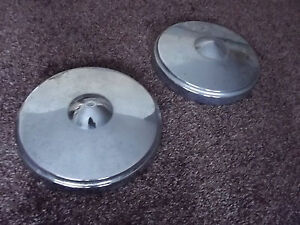 Vintage Studebaker Dog Dish Poverty Hubcaps Pair