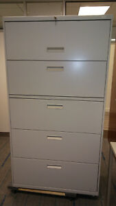 Lateral Metal File Cabinet 5 Drawer Brand New With Keys