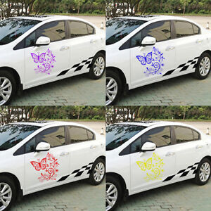 Butterfly Flower Hood Tailgate Side Window Decal Car Sticker Decoration Fine