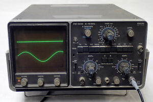 Philips 3232 0 10mhz Dual Beam 2 Channel Analog Oscilloscope tested