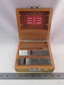 Starrett Webber P w Hoke Gage Block Set 4 Pieces Metric Mw54