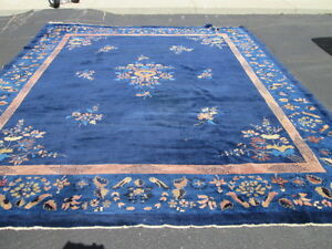 10 X12 Awesome Antique Peking Chinese Rug