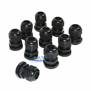 10x Durable Waterproof Uv Resistant Black Nylon Connector Grommet 12 15mm Dia