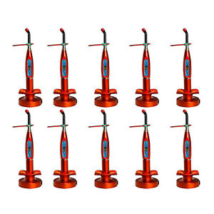 10 X Orange Dentist Dental Wireless Cordless Led Curing Light Curing Lamp Ttle