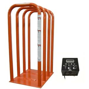 Ame International 4 Bar Tire Inflation Cage With Qube Inflator 24441