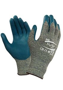 Ansell 11 501 6 Hyflex Nitrile Foam Coated Gloves Size 6 Blue 12 Pairs