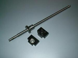 1 Anti Backlash 25mm Ballscrew Rm2510 600mm c7 bk bf20 End Bearing Support Cnc