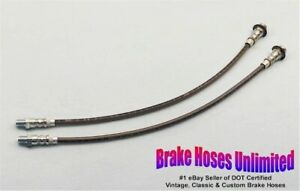 Front Stainless Brake Hoses Ford Truck 1 2 Ton 1939 1940 1941 1942