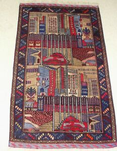 Afghanistan Usa Pentagon Nys War Carpet Rug Unique Handmade Persian Hand Knotted