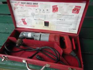 Milwaukee Tools Right Angle 1 2 Drive Heavy Duty Corner Drill 2 Speed Corded