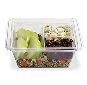 Gocubes 16 Oz Pet Container With 3 comp Clear Insert And Clear Lid 50 Sets
