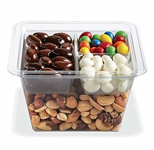 Gocubes 32 Oz Pet Container With 3 comp Clear Insert And Clear Lid 50 Sets