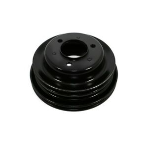 Bbc Chevy 3 Groove Black Crankshaft Pulley For Long Water Pump 396 427 454