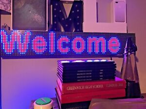 Led Sign 6 x36 Full Color Indoor Programmable Message Board