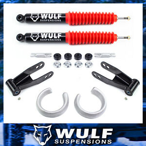 2 5 Front 2 Rear Leveling Lift Shocks Kit 1998 2012 Ford Ranger 2wd 4x2 Only