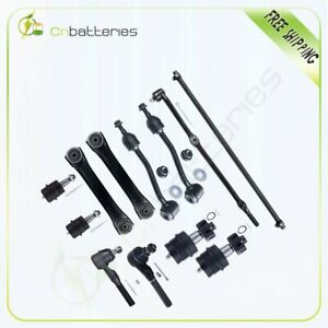 12pc Front Steering Parts Control Arm For 1997 06 Jeep Wrangler Tj 4wd 4x4 Only