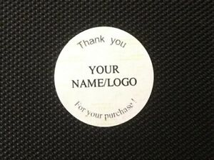 Custom Labels Personalized Stickers 1 Round Thank You For Your Purchase Tag