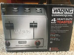 Waring Wct805 Commercial Heavy Duty 4 Slot Toaster 240v