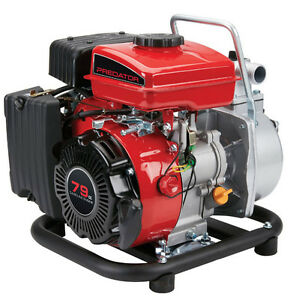 1 In 79cc Portable Gasoline Engine Clear Water Pump 35 Gpm Low Oil Quick Start