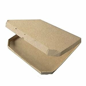 Safepro Kpb13 13 inch Kraft European Style Corrugated Pizza Boxes 100pcs