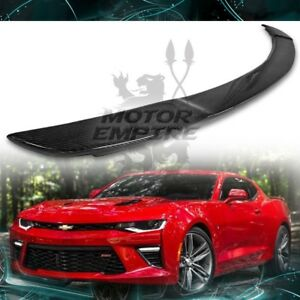 Carbon Fiber Rear Trunk Spoiler Racing Style Wing For 16 18 Chevy Camaro