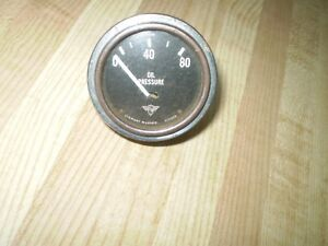 Vintage Stewart Warner Curved Glass Wing Oil Pressure Gauge Hot Rods 2 1 8 Inch
