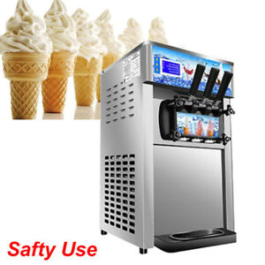 Ice Cream Machine 3 Flavor 18l Ice Cream Making Machine Commercial Standing Type