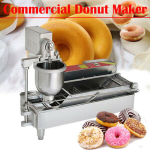 Commercial Electric Automatic Doughnut Donut Making Machine Donut Maker W 3 mold