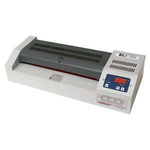Professional Pouch Laminator Temperature Control Machine Office 4 Roller Display