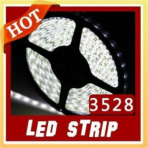 Led Strip Lighting Car Caravan Boat 5m Bright White Waterproof Home Garden
