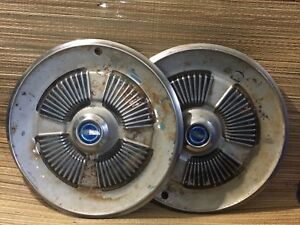 Set Of 2 Vintage Ford Galaxie Hub Caps Hard To Find Man Cave Or Restoration