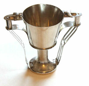 Guernsey Arts Crafts Sterling Silver Loving Cup Chalice Architectural 1902