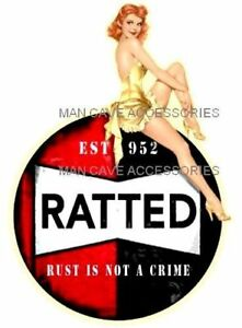Sexy Pin Up Girl Ratted Rat Rod Vinyl Decal Sticker 4120