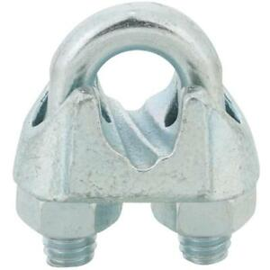 100 galvanized Malleable Iron 5 16 Wire Rope Cable Clip Clamp T7670449