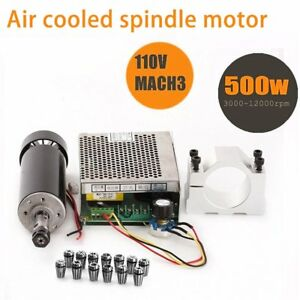Cnc Spindle 500w Air Cooled 0 5kw Milling Motor And Spindle Speed Power