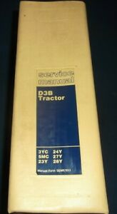 Caterpillar D3b Tractor Dozer Service Shop Repair Book Manual Oem Original