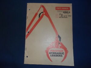 Prentice Series G Hydraulic Loader Parts Manual Book