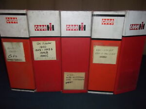 Case Ih Empty Service Parts Manual 3 Ring Manual Book Binders Lot Of 5
