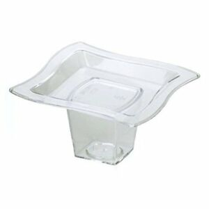 2 75x2 75 inch Plastic Tiny Serving Trays And Cups Set 50