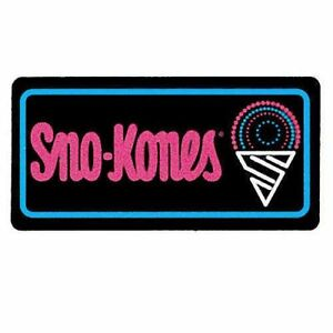 Gold Medal Lighted Sno kones Sign Fluorescent Backlit Illumination Advertising