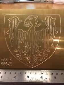 German Eagle Master Template Brass Engraving Plate For New Hermes Font Tray