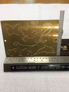 Multi Image 2 Master Template Brass Engraving Plate For New Hermes Font Tray