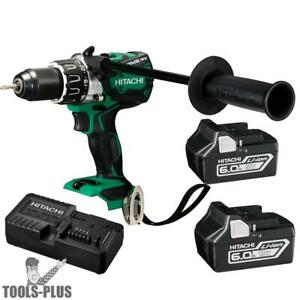 Hitachi Dv18dbl2 18v Brushless Li ion 1 2 Hammer Drill Kit W 2 6 0ah Batts New