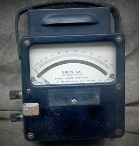 Weston Electrical Instrument Corp Model 433 Ac Voltmeter 25 2400 Cycles