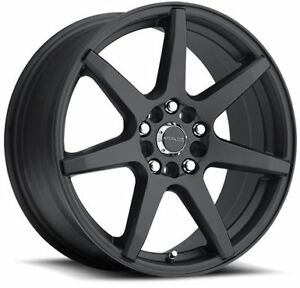 17x7 5 Raceline 131b Evo 5x108 5x114 3 Et20 Black Wheels New Set 4