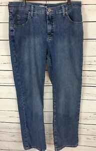 Lee Riders Women's Classic Fit Straight Medium Wash Petite Jeans Size 14P - L10