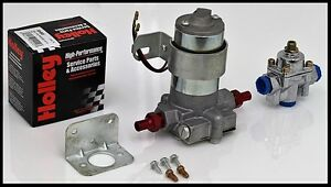 100 Gph Red Series Electric Fuel Pump With Holley Regulator S 6253 Kit
