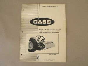 Vintage Service Parts Catalog 1132 Case F 70 Rotary Tiller Compact Tractors 1969