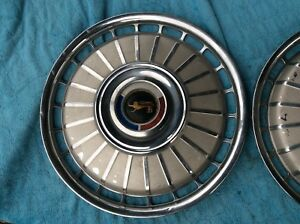 2 1962 Ford Galaxie 500 Sunliner Nice 14 Hubcaps